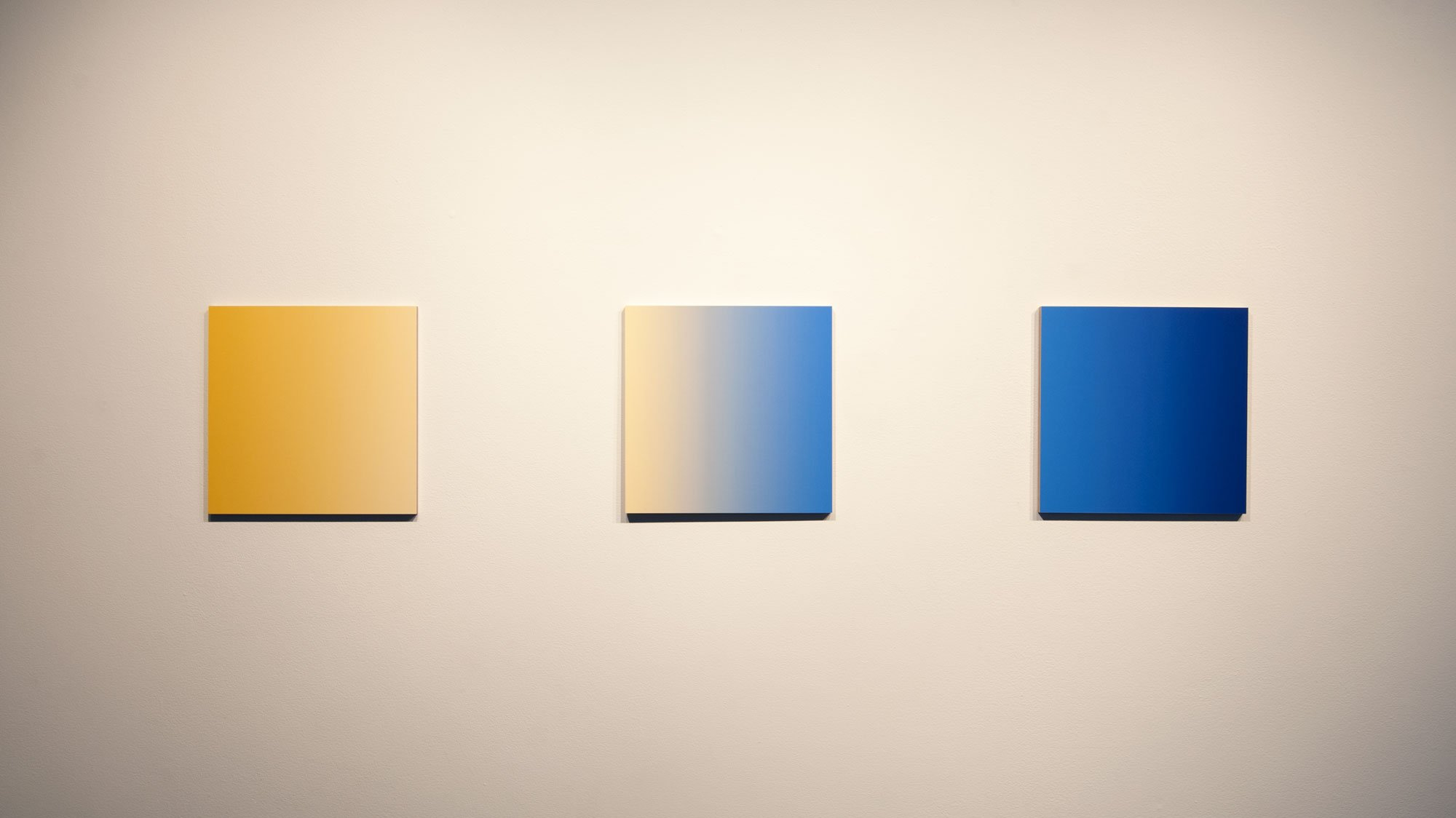 Scalar Field Triptych (f9bf3b, fde3a7, 4183d7, 1f3a93)